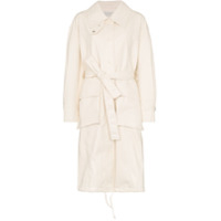 Low Classic Belted Mid-Length Trench Coat - Branco