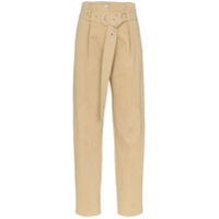 Low Classic Belted Straight Leg Trousers - Neutro