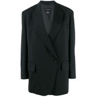 Low Classic Off-Center Button Jacket - Preto