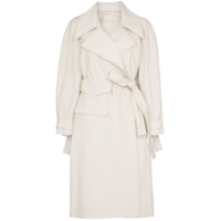 Low Classic Trench Coat Com Cinto - Neutro