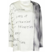 Low Classic Printed Scribbles T-Shirt - Branco