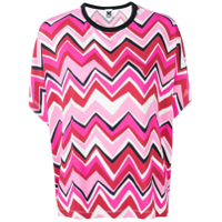 M Missoni Pink Patterned T-Shirt - Rosa