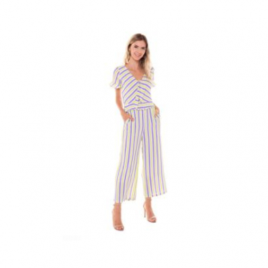 Macacao Studio 21 Fashion Stripes-Feminino