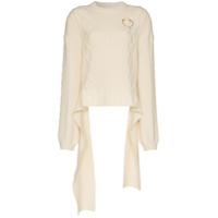 Magda Butrym Braid City Cable-Knit Sweater - Neutro