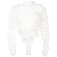 Magda Butrym Sheer Lace Top - Branco
