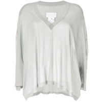 Maison Margiela Batwing Sleeve Knitted Top - Cinza