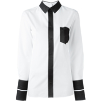 Maison Margiela Camisa Color Block - Branco