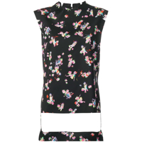 Maison Margiela Cartoon Print Top - Preto