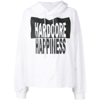 Maison Margiela Moletom Estampado Hardcore Happiness - Branco