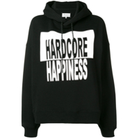 Maison Margiela Moletom Estampado Hardcore Happiness - Preto