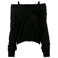 Maison Margiela Off Shoulder Jumper - Preto