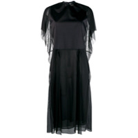 Maison Margiela Tulle Panneled T-Shirt Dress - Preto