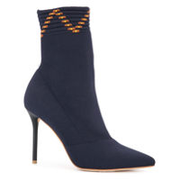 Malone Souliers Ankle Boot Meia De Couro - Azul