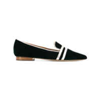 Malone Souliers Pointed Stripe Detail Mules - Verde