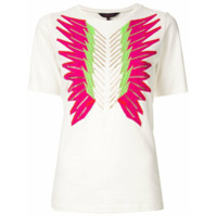 Manish Arora Camiseta Bordada Com Cristais - Branco