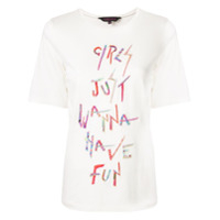 Manish Arora Camiseta Com Bordado - Branco