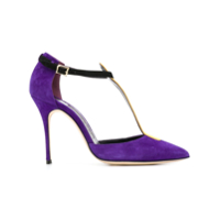 Manolo Blahnik Vree T-Bar Pumps - Roxo