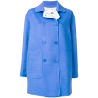 Manzoni 24 Double Breasted Peacoat - Azul