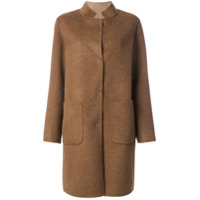 Manzoni 24 Single Breasted Coat - Marrom