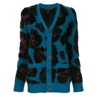 Marc Jacobs Cardigan Com Animal Print - Azul