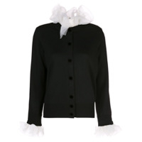 Marc Jacobs Long-Sleeve Ruffle Cardigan - Preto