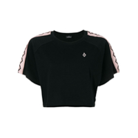 Marcelo Burlon County Of Milan Camiseta Cropped - Preto