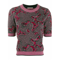 Marco De Vincenzo Short-Sleeve Embroidered Top - Rosa