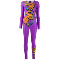 Marine Serre Fitted Dragon Jumpsuit - Roxo