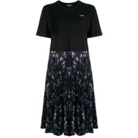 Markus Lupfer T-Shirt Pleated Dress - Preto