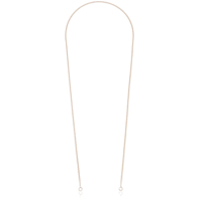 Marla Aaron Rose Gold Rolo Thin Chain - Metálico