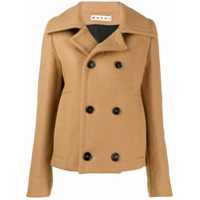 Marni Cropped Double-Breasted Coat - Marrom