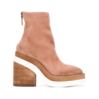 Marsèll Ankle Boot Salto Bloco - Neutro