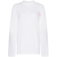 Martine Rose Oversized Logo Print Long Sleeved T-Shirt - Branco