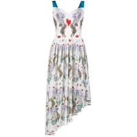 Mary Katrantzou Vestido Assimétrico 'flux' - Estampado