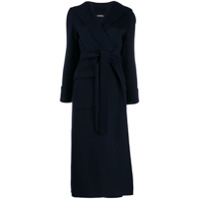 Max Mara Hooded Trench Coat - Azul