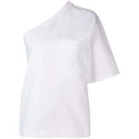 Max Mara Off-Shoulder Asymmetric Blouse - Branco