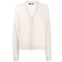 Max Mara Studio knitted cardigan - Branco
