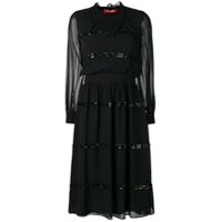 Max Mara Studio Sheer Construction Dress - Preto