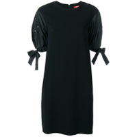 Max Mara Studio Structured Sleeves Dress - Preto