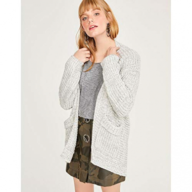 Maxi Cardigan Tricot-Off White-G