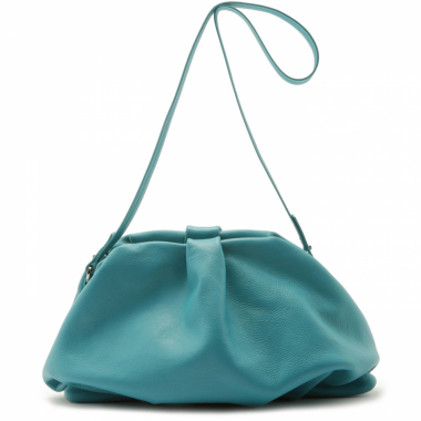 Maxi Clutch Avril Leather Pop Green | Schutz