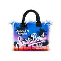 Mc2 Saint Barth Tropical Logo Tote Bag - Azul