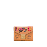 Mcm Porta-Moedas Com Patch Love Patch - Marrom