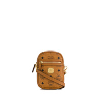 Mcm Mini Logo Shoulder Bag - Marrom