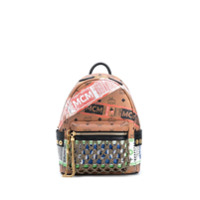 Mcm Stark Flight Print Visetos Backpack - Neutro