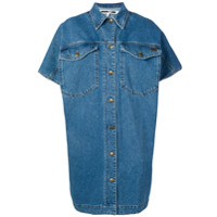 Mcq Alexander Mcqueen Denim Shirt Dress - Azul