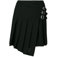 Mcq Alexander Mcqueen Pleated Wrap Skirt - Preto