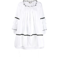 Mcq Alexander Mcqueen Short Ruffled Dress - Branco