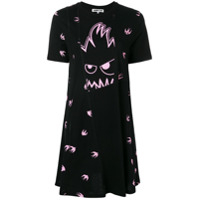 Mcq Alexander Mcqueen Swallow Monster T-Shirt Dress - Preto