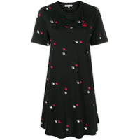 Mcq Alexander Mcqueen Swallow Twins T-Shirt Dress - Preto
